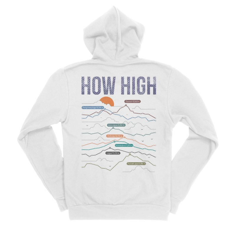 how high Women's Sponge Fleece Zip-Up Hoody by muag's Artist Shop