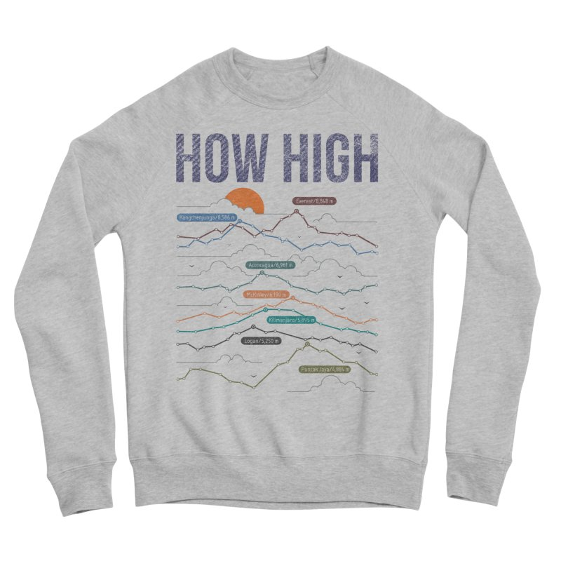 how high Men's Sponge Fleece Sweatshirt by muag's Artist Shop