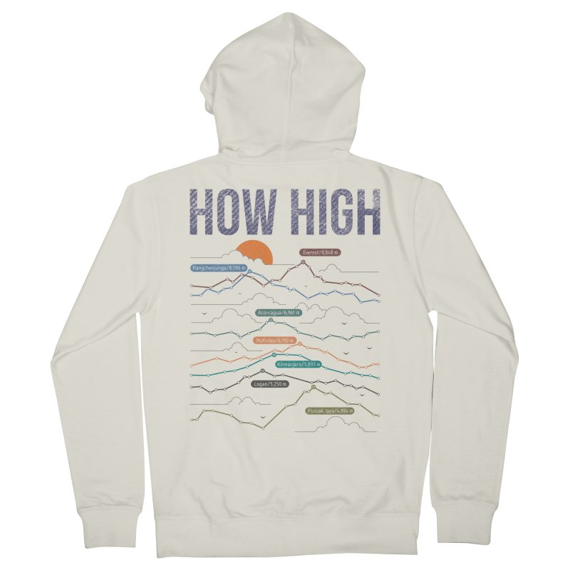 how high Men's Zip-Up Hoody by muag's Artist Shop