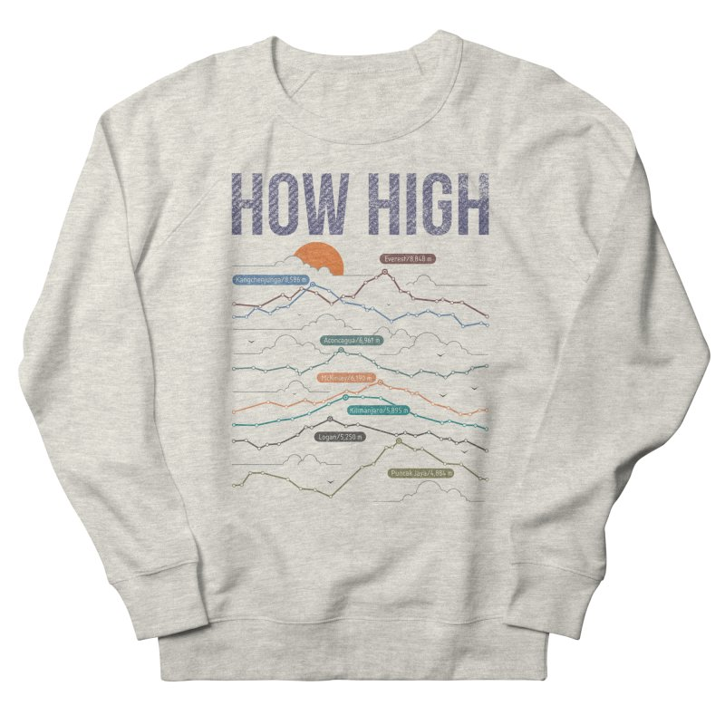 how high Men's French Terry Sweatshirt by muag's Artist Shop