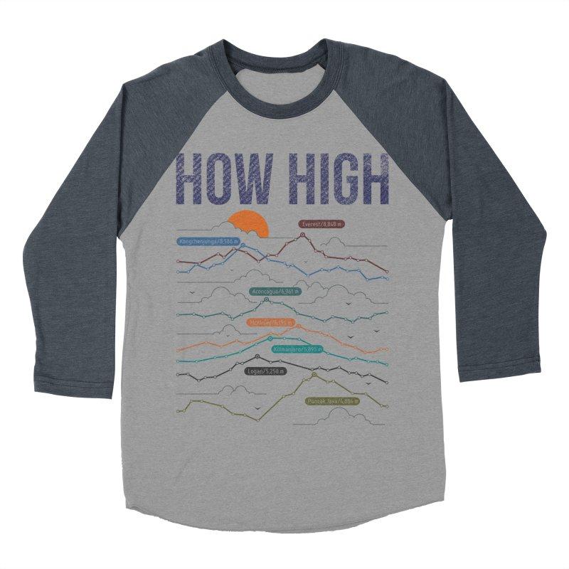 how high Women's Baseball Triblend T-Shirt by muag's Artist Shop
