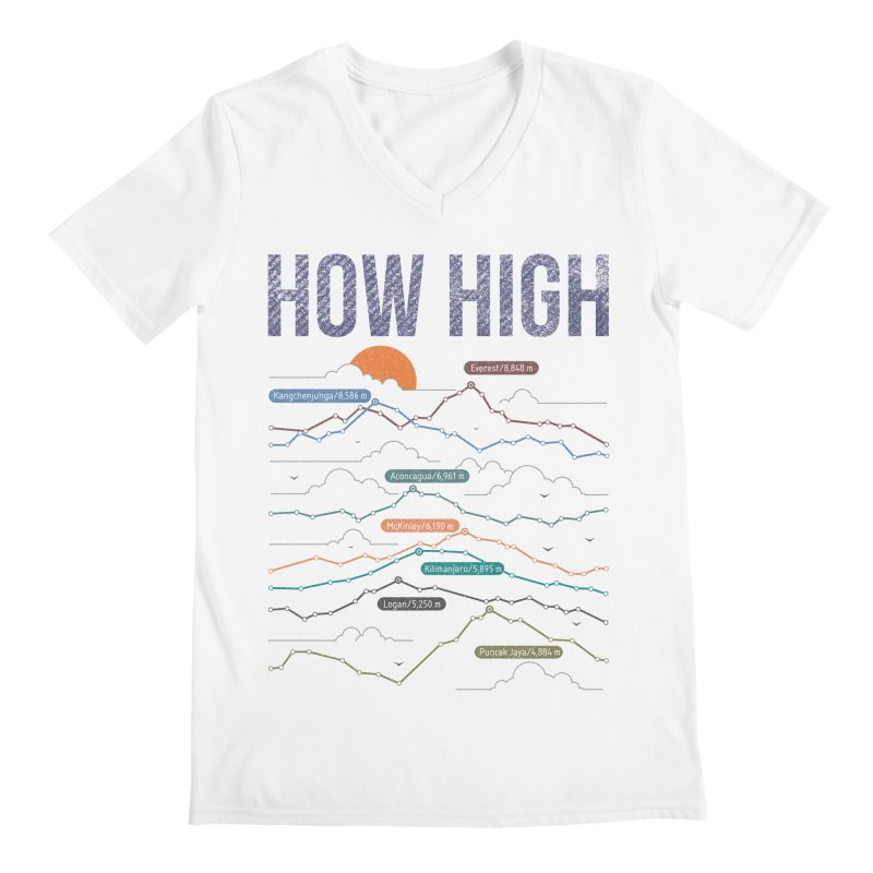 how high Men's Regular V-Neck by muag's Artist Shop