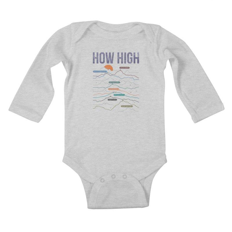 how high Kids Baby Longsleeve Bodysuit by muag's Artist Shop