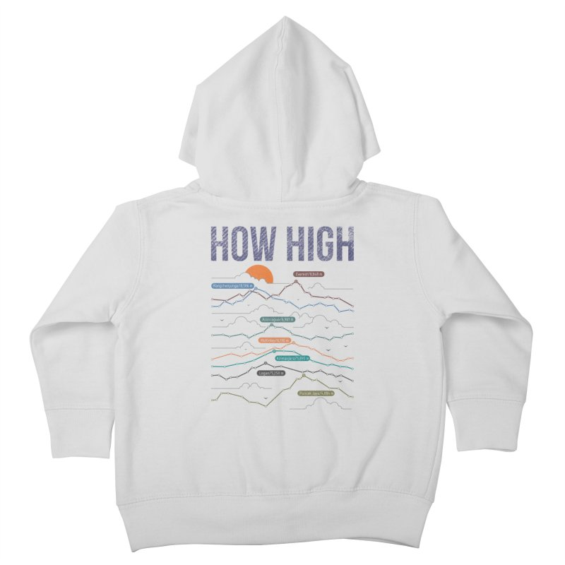 how high Kids Toddler Zip-Up Hoody by muag's Artist Shop