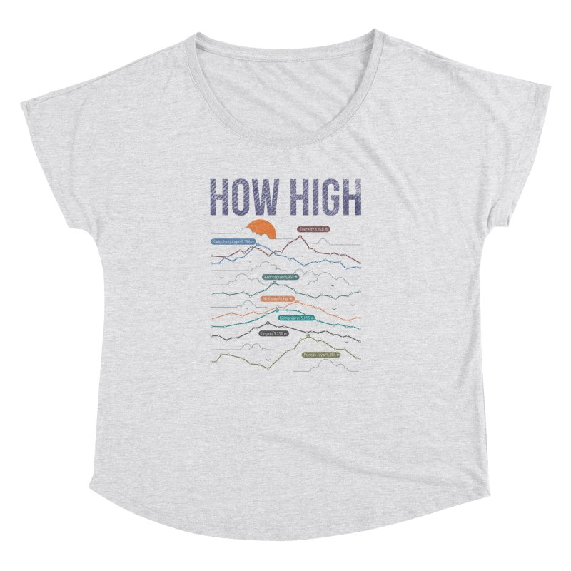 how high Women's Dolman Scoop Neck by muag's Artist Shop