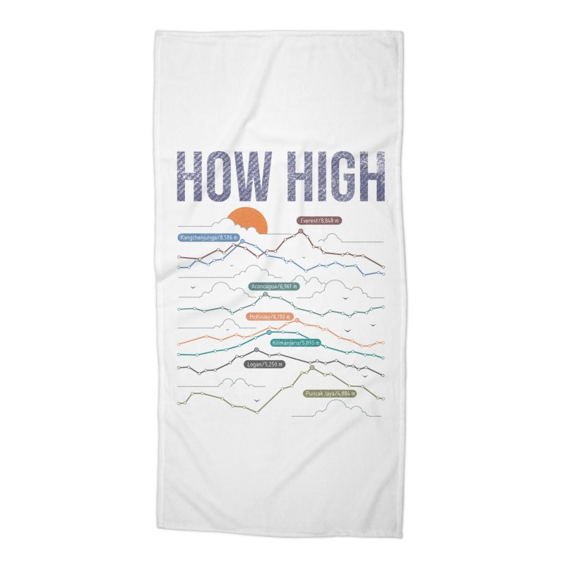 how high Accessories Beach Towel by muag's Artist Shop