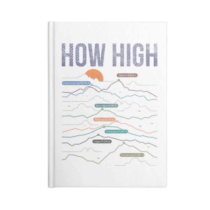 how high Accessories Lined Journal Notebook by muag's Artist Shop