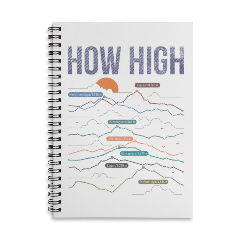 how high Accessories Lined Spiral Notebook by muag's Artist Shop