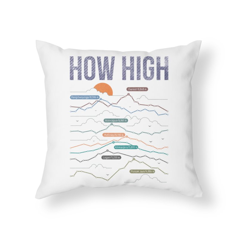 how high Home Throw Pillow by muag's Artist Shop