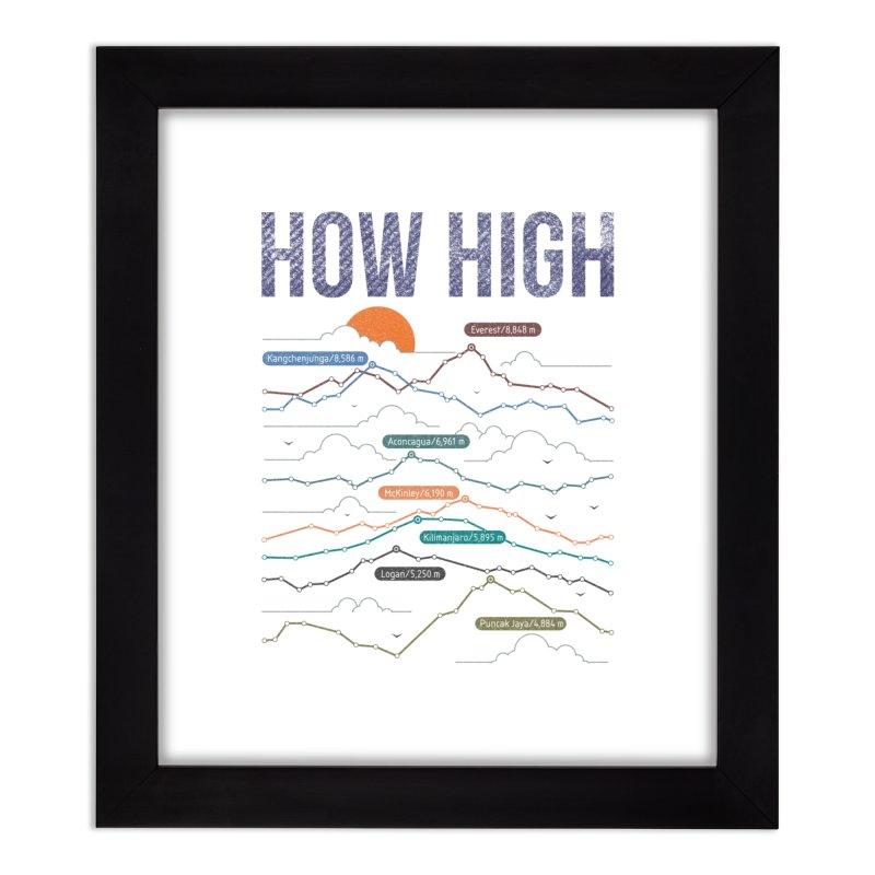 how high Home Framed Fine Art Print by muag's Artist Shop