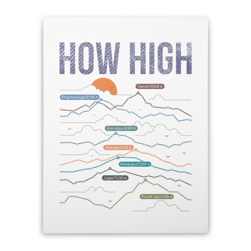 how high Home Stretched Canvas by muag's Artist Shop