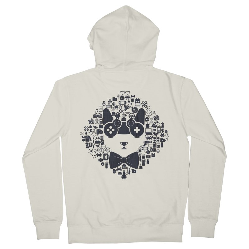 nerd trip Men's Zip-Up Hoody by muag's Artist Shop
