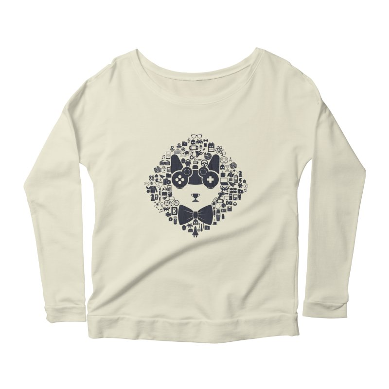 nerd trip Women's Scoop Neck Longsleeve T-Shirt by muag's Artist Shop