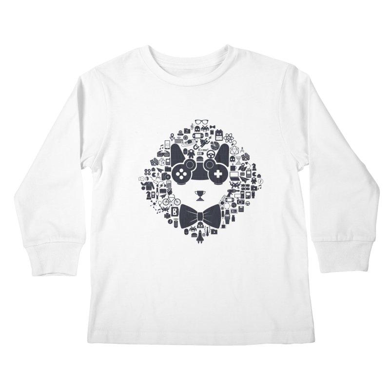 nerd trip Kids Longsleeve T-Shirt by muag's Artist Shop