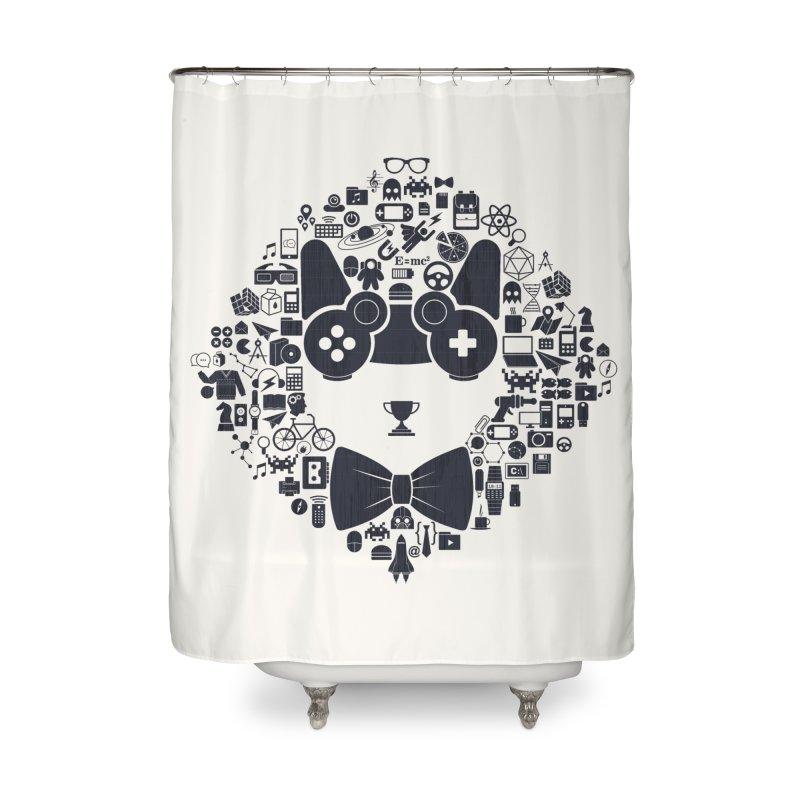 nerd trip Home Shower Curtain by muag's Artist Shop