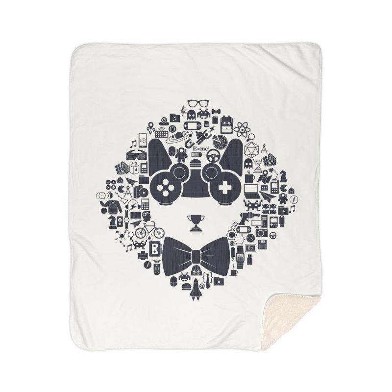 nerd trip Home Sherpa Blanket Blanket by muag's Artist Shop