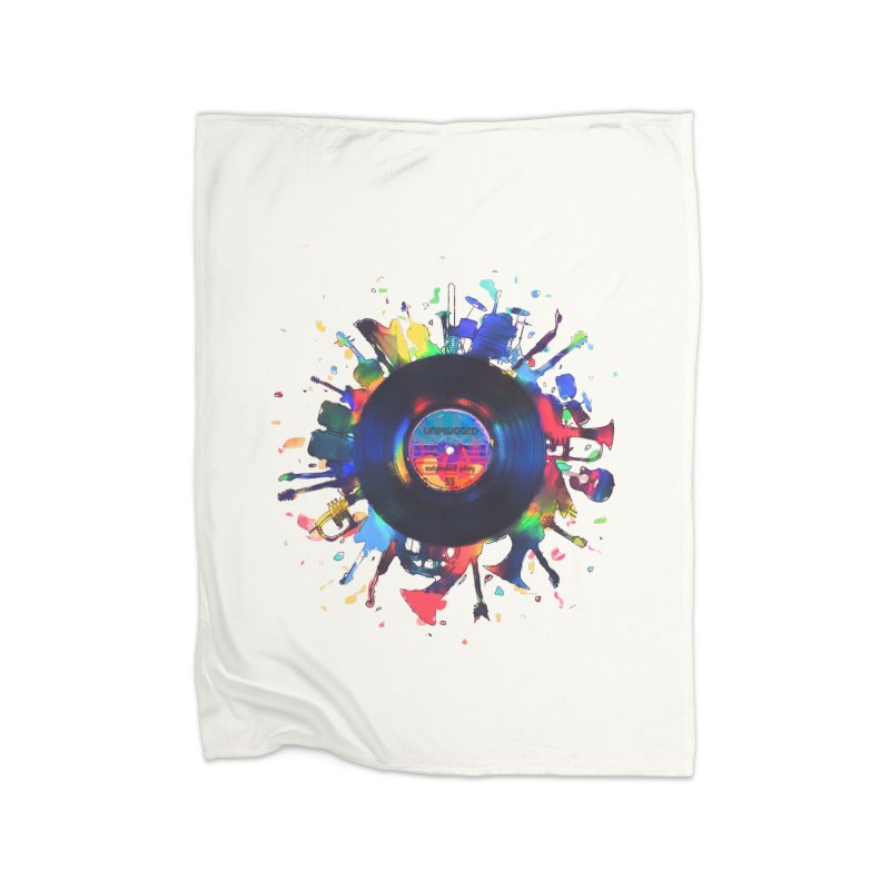 unplugged Home Blanket by muag's Artist Shop