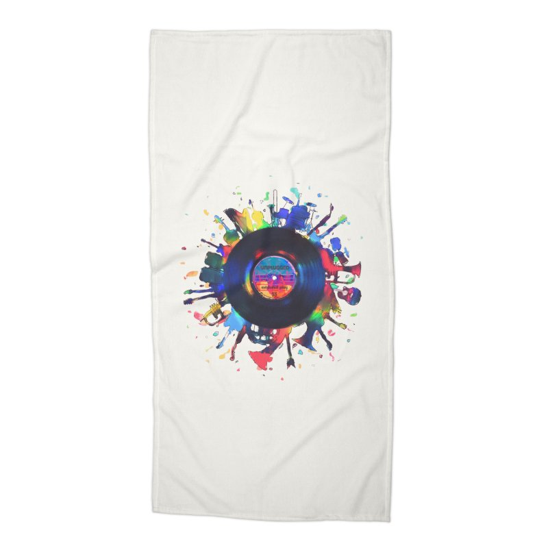unplugged Accessories Beach Towel by muag's Artist Shop