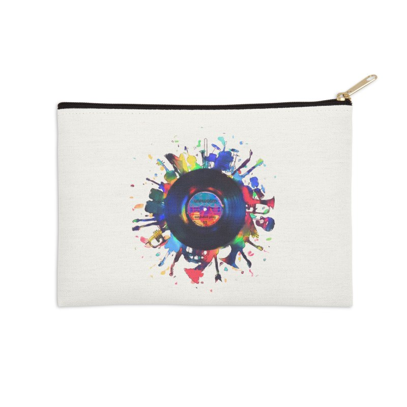unplugged Accessories Zip Pouch by muag's Artist Shop