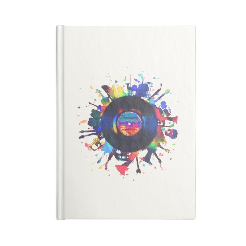 unplugged Accessories Lined Journal Notebook by muag's Artist Shop