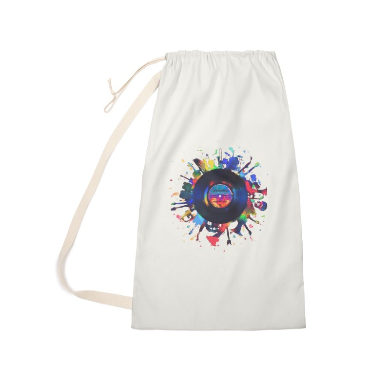 unplugged Accessories Laundry Bag Bag by muag's Artist Shop