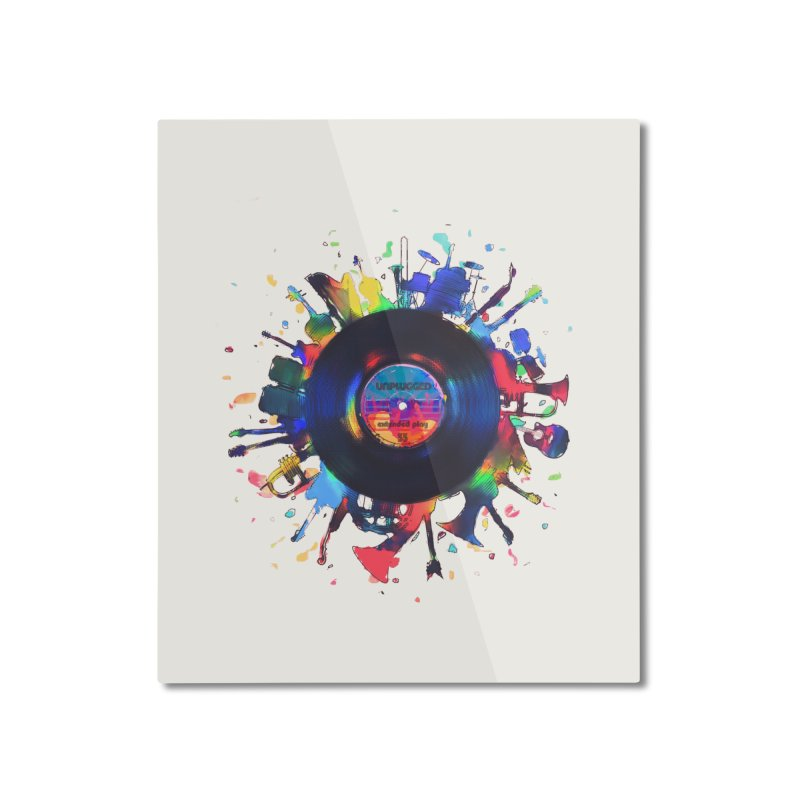 unplugged Home Mounted Aluminum Print by muag's Artist Shop
