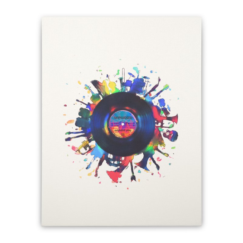 unplugged Home Stretched Canvas by muag's Artist Shop