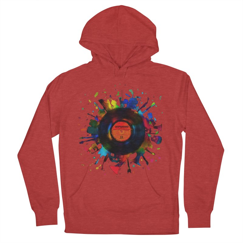 unplugged Women's Pullover Hoody by muag's Artist Shop