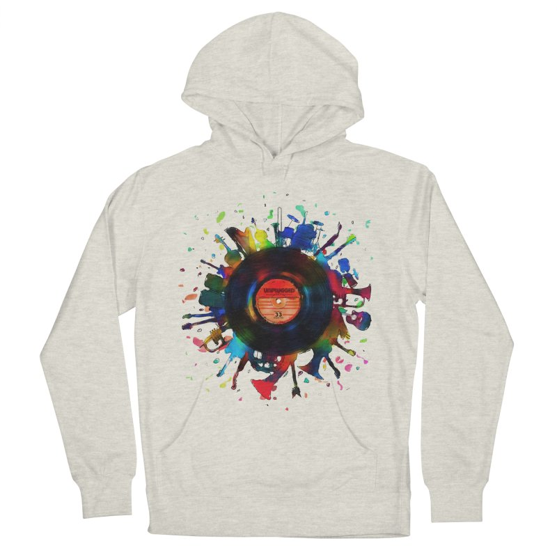 unplugged Women's French Terry Pullover Hoody by muag's Artist Shop
