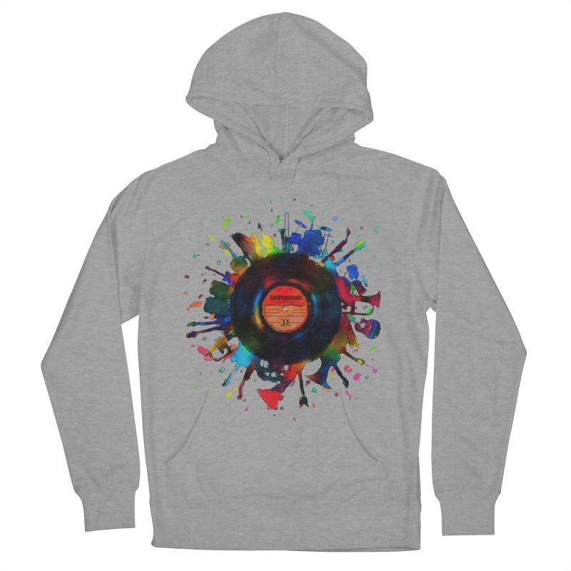 unplugged Men's Pullover Hoody by muag's Artist Shop