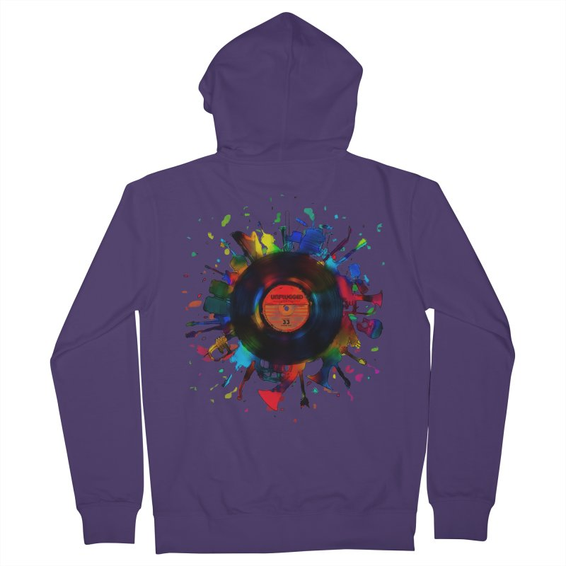 unplugged Women's Zip-Up Hoody by muag's Artist Shop