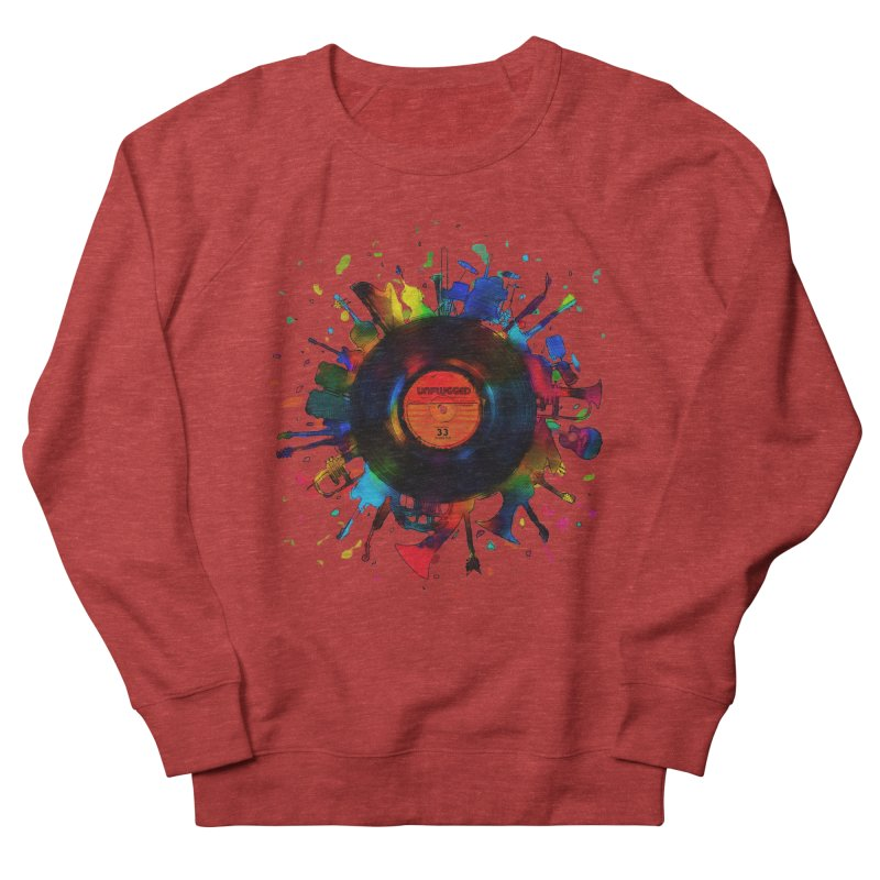 unplugged Men's French Terry Sweatshirt by muag's Artist Shop