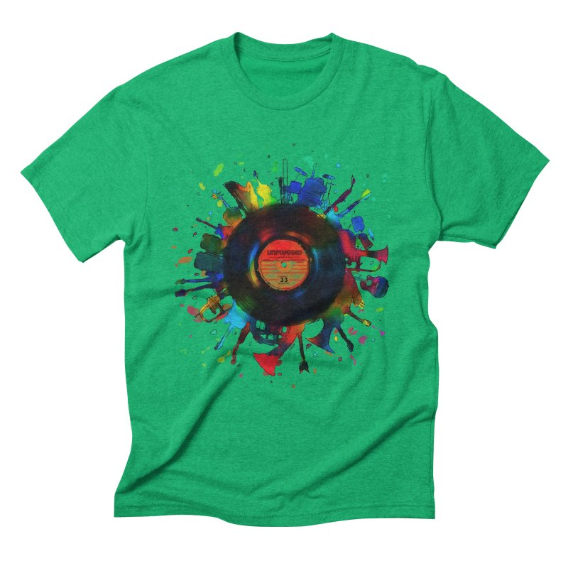 unplugged Men's Triblend T-shirt by muag's Artist Shop