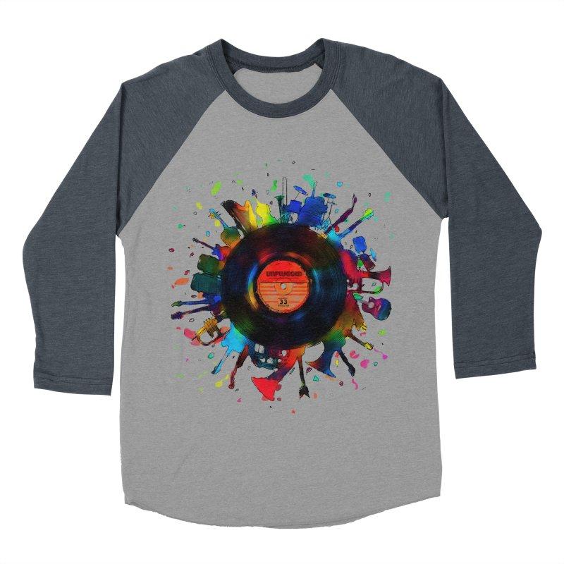 unplugged Women's Baseball Triblend T-Shirt by muag's Artist Shop
