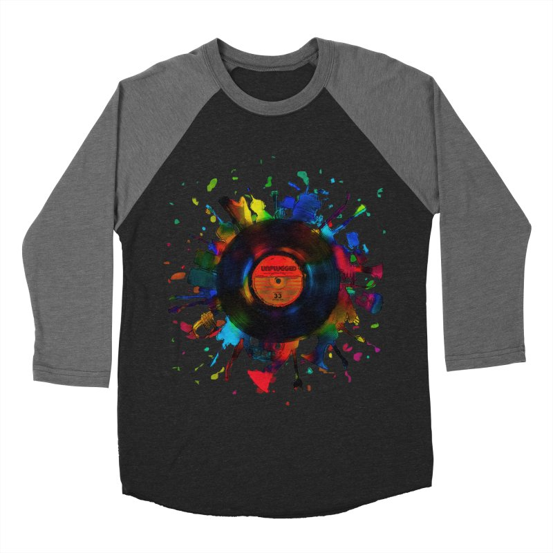 unplugged Men's Baseball Triblend Longsleeve T-Shirt by muag's Artist Shop