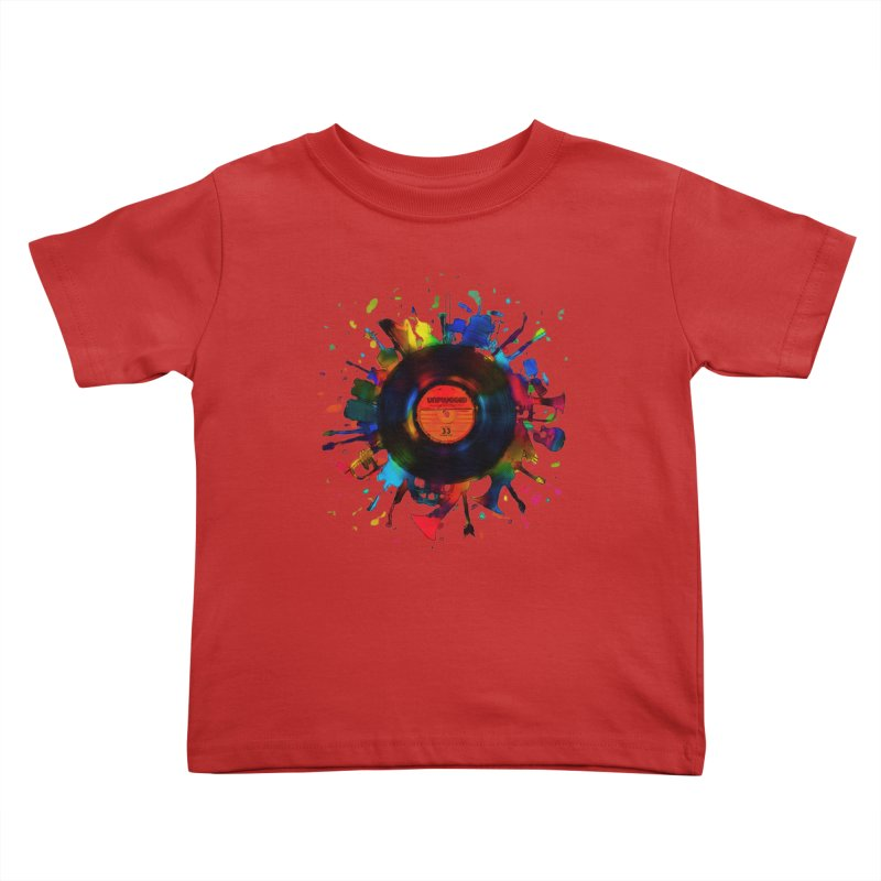 unplugged Kids Toddler T-Shirt by muag's Artist Shop