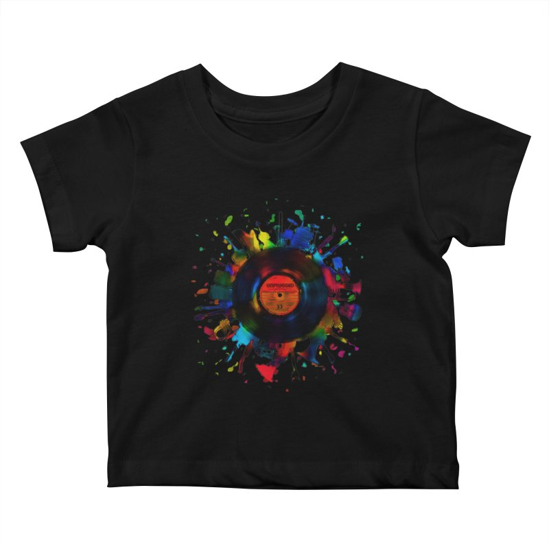 unplugged Kids Baby T-Shirt by muag's Artist Shop