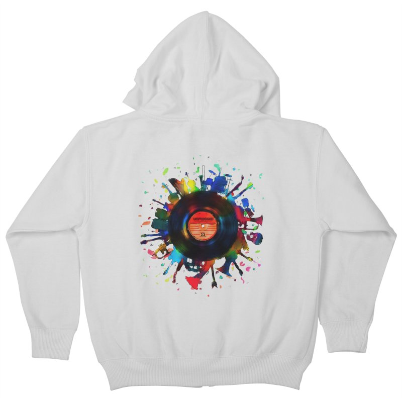 unplugged Kids Zip-Up Hoody by muag's Artist Shop