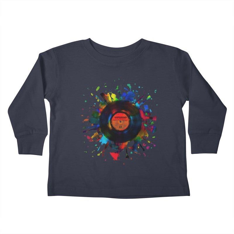 unplugged Kids Toddler Longsleeve T-Shirt by muag's Artist Shop