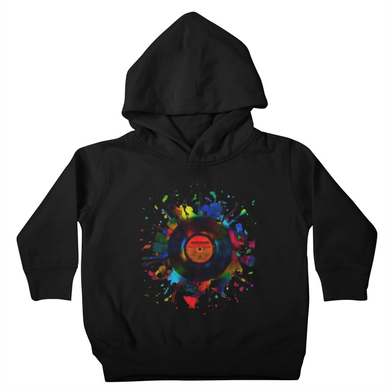 unplugged Kids Toddler Pullover Hoody by muag's Artist Shop