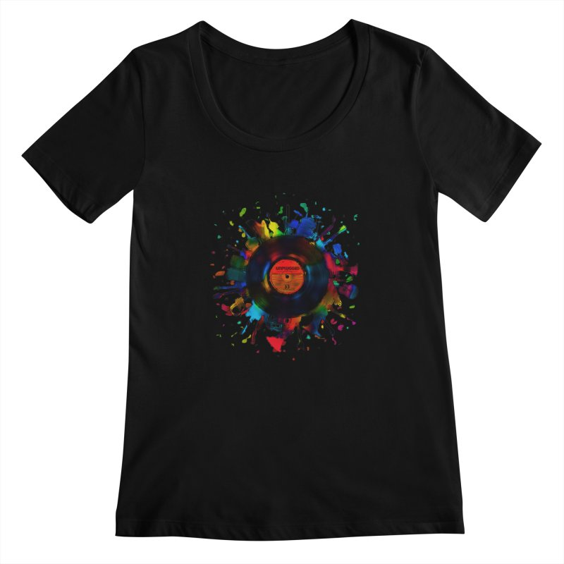 unplugged Women's Scoopneck by muag's Artist Shop