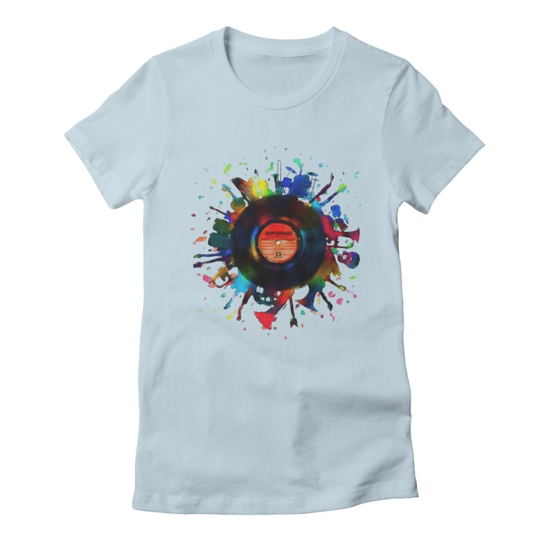 unplugged Women's Fitted T-Shirt by muag's Artist Shop