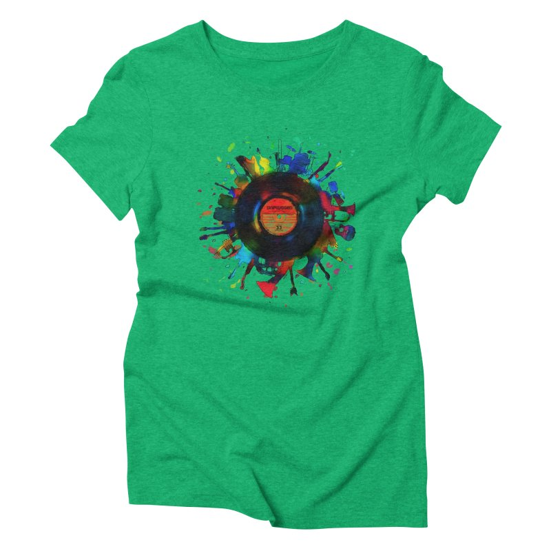 unplugged Women's Triblend T-Shirt by muag's Artist Shop