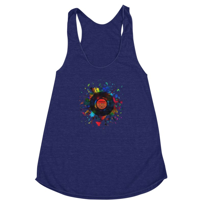 unplugged Women's Racerback Triblend Tank by muag's Artist Shop