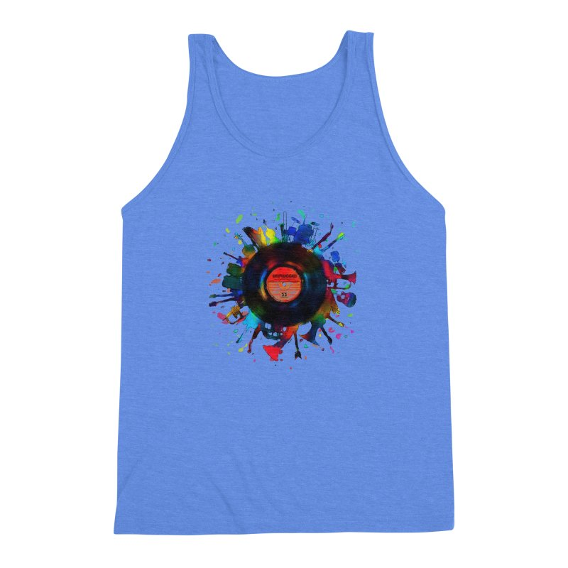 unplugged Men's Triblend Tank by muag's Artist Shop