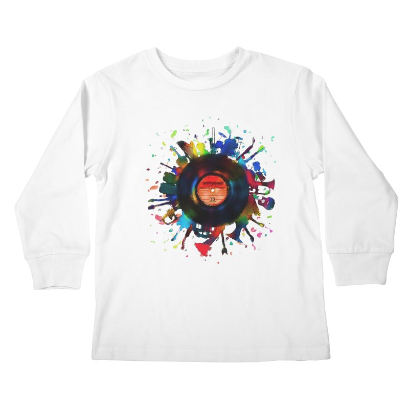 unplugged Kids Longsleeve T-Shirt by muag's Artist Shop