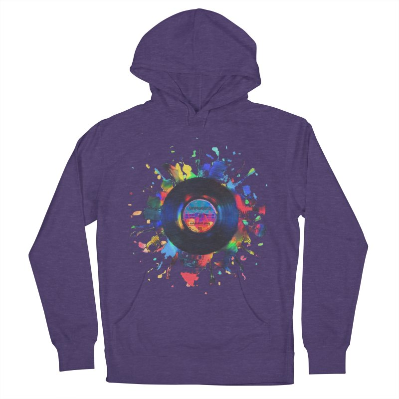 unplugged Men's French Terry Pullover Hoody by muag's Artist Shop