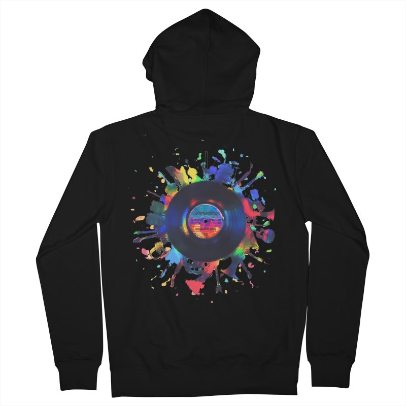 unplugged Women's French Terry Zip-Up Hoody by muag's Artist Shop