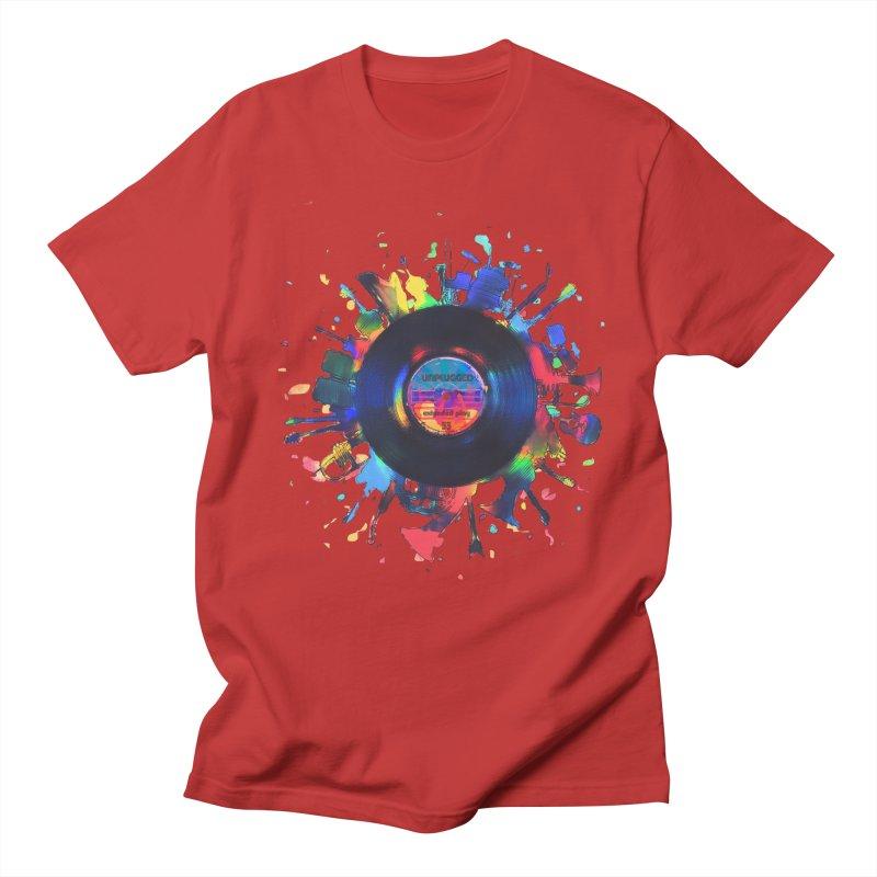 unplugged Men's Regular T-Shirt by muag's Artist Shop