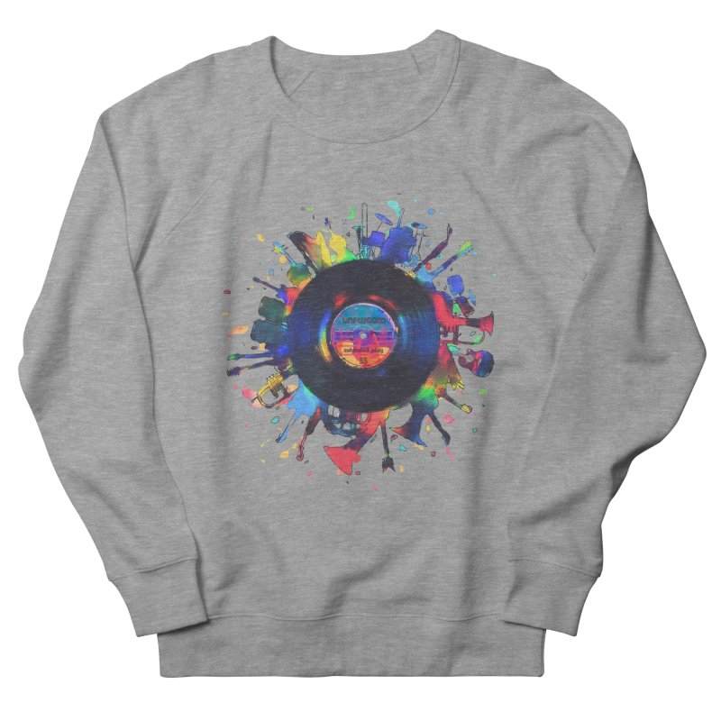 unplugged Women's French Terry Sweatshirt by muag's Artist Shop